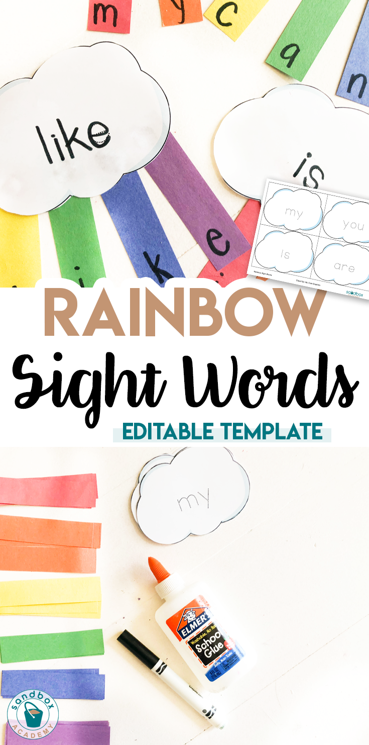 Garden Activities For Preschool Sandbox Academy Rainbow Activities Sight Words Kindergarten Kindergarten Activities [ 1482 x 735 Pixel ]