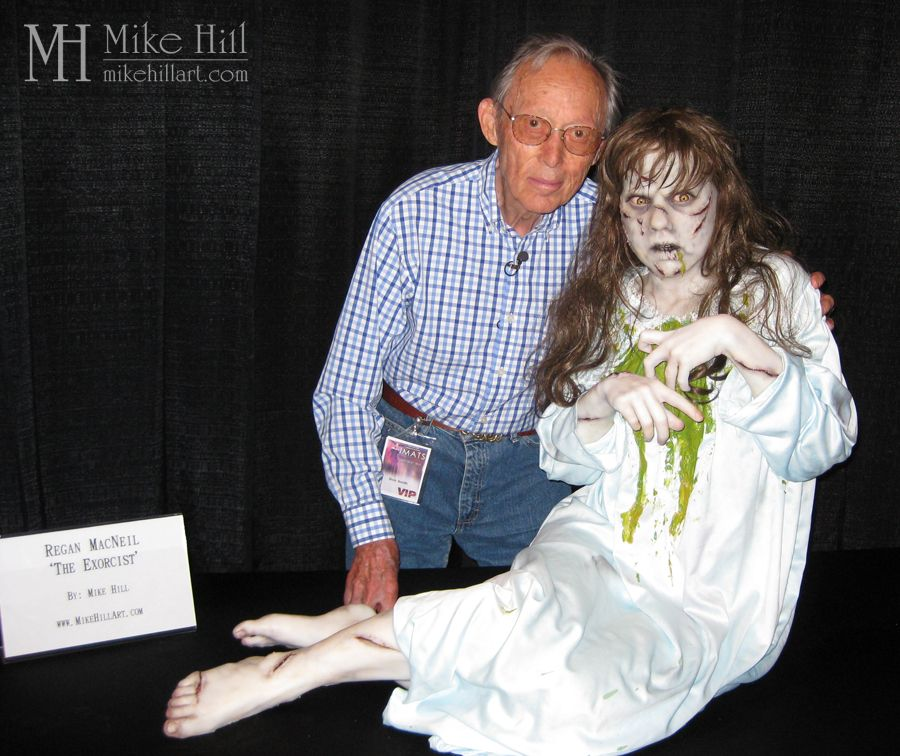 Legendary Make-Up Artist Dick Smith poses with Mike's recreation of his original horror masterpiece.