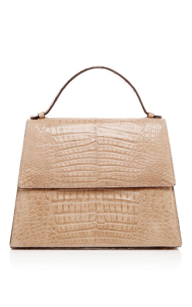 Crocodile Leather Top Handle Bag By Hunting Season Now Available On Moda Operandi Handbags