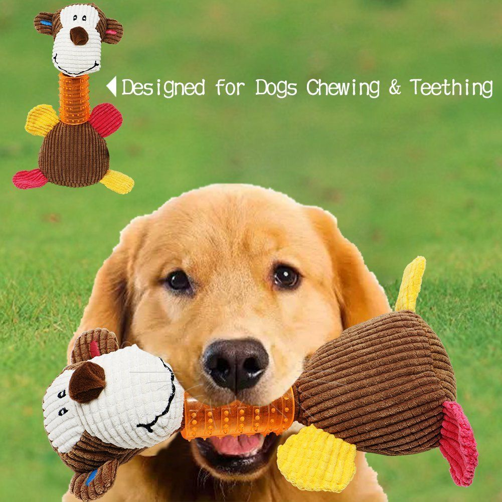 Doromi Dog Chew Toys Moneky And Best Pet Squeaky Duck Toys And Soft Fun Sound Toys And Good For Teeth Trainning Monkey Read More R Dogs Dog Chews Dancing Cat
