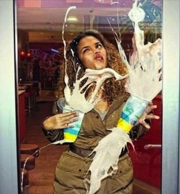 Times When You Shouldn't GiveUp - When you walk into a glass door and spill your milkshakes