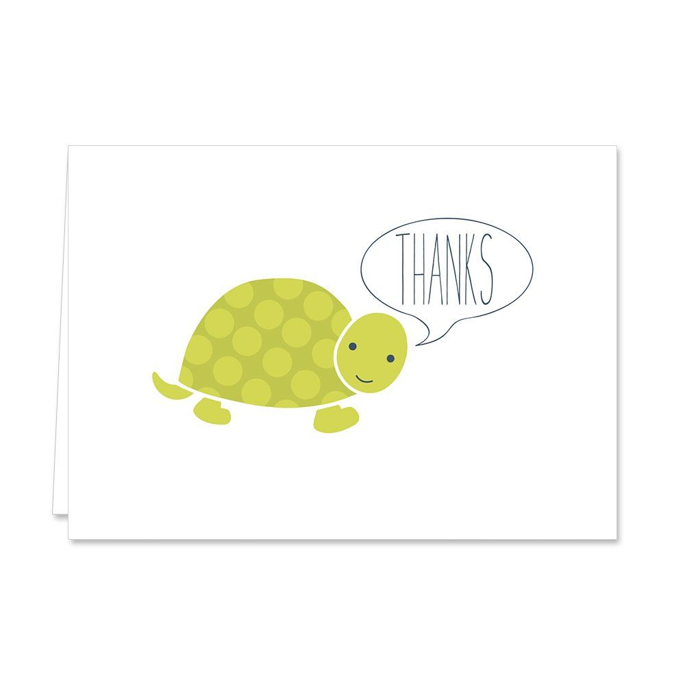 Canopy street adorable animal thank you note card