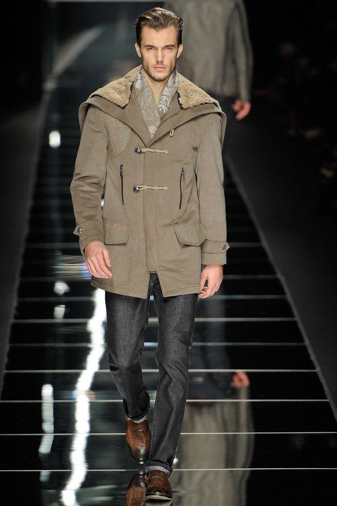 John Richmond Fall / Winter 2012 - Man in Parka with Fur Hat