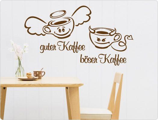 wandtattoo guter kaffee b ser kaffee lustige kaffee spr che und motive f r die k che. Black Bedroom Furniture Sets. Home Design Ideas