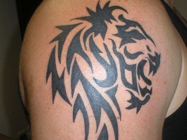 Tribal Lion Shoulder Tattoo On Tribal Lion Tattoos For Men 3 Tatuajes