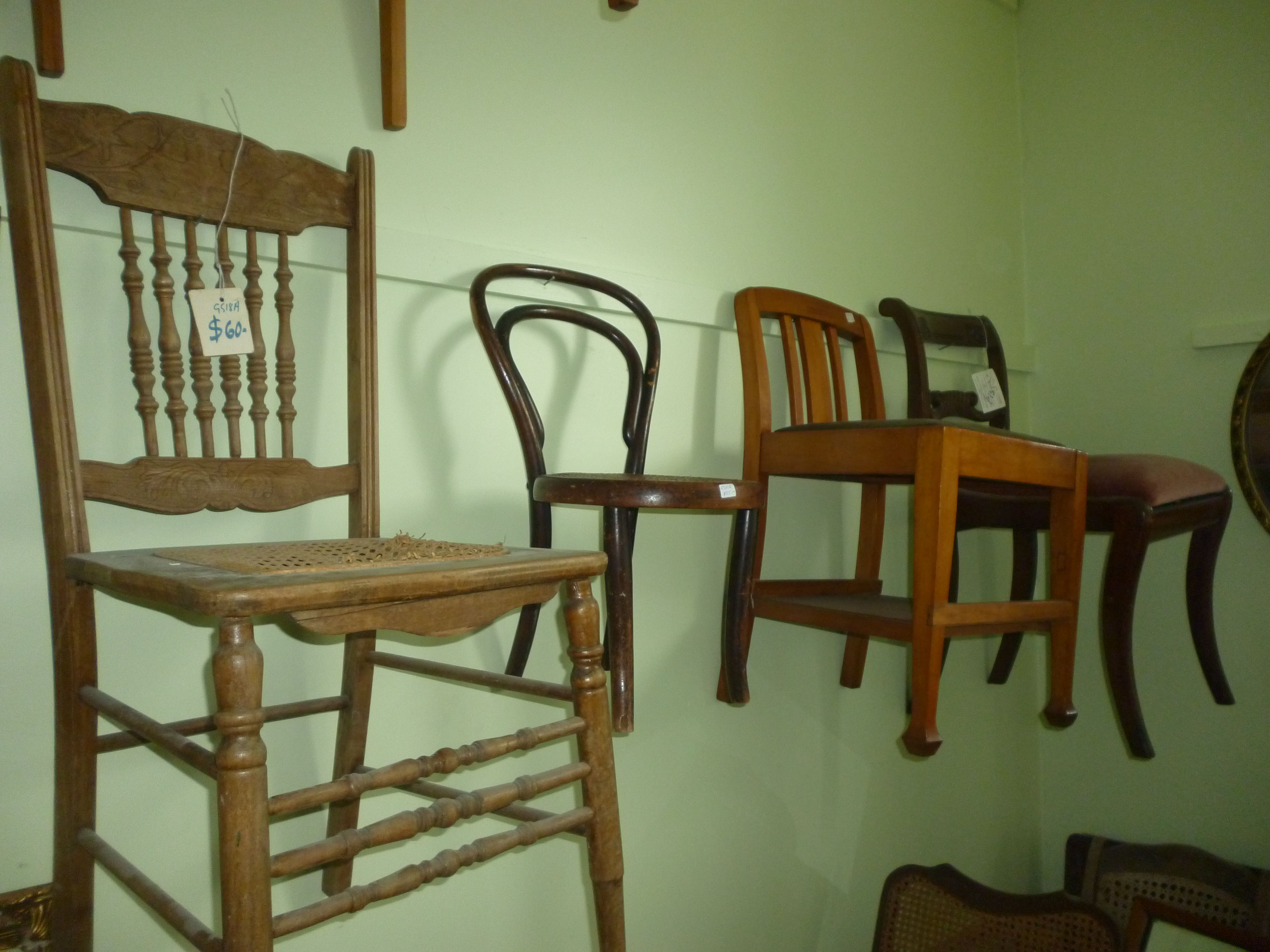 Need an extra chair for dinner guests? Antique Alley in