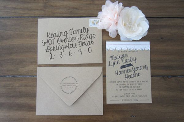 Beautiful Wedding Invitation Templates: Beautiful Wedding Invitations You Can Make Yourself