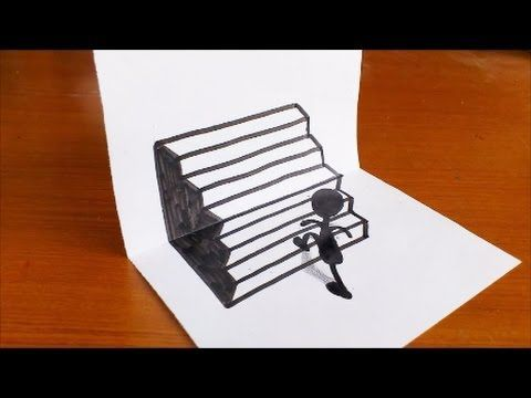 Very Easy How To Draw 3d Hole For Kids Anamorphic Illusion 3d