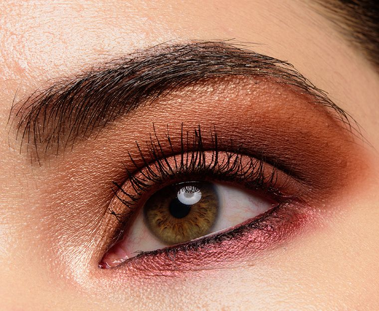 A warm copper plum look with milani pure passion