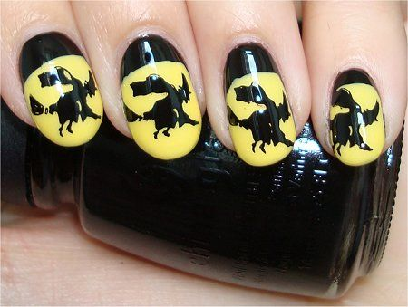 Flash Witch Nails Halloween Nails Nail Art Tutorial Crazy Cool