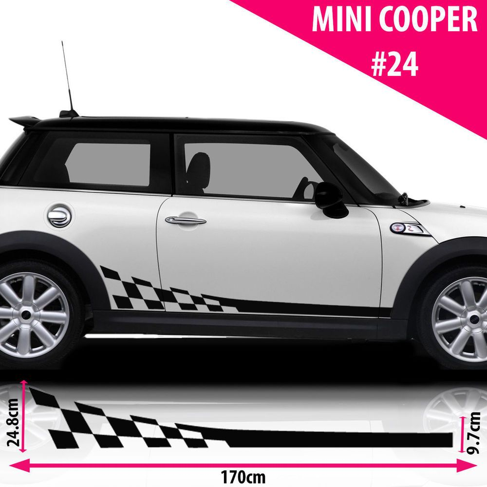 Fits Mini Cooper S Side Racing Stripes Car Stickers Decal Vipe Vinyl Graphics Minicooper Mini Cooper Cooper Car Car Decals