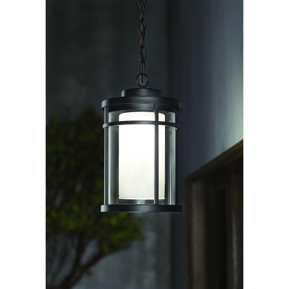 Home Decorators Collection Black Outdoor LED Hanging Light-DS5981BK - The Home Depot  sc 1 st  Pinterest & Black Outdoor LED Hanging Light | Hanging lights Hanging light ...