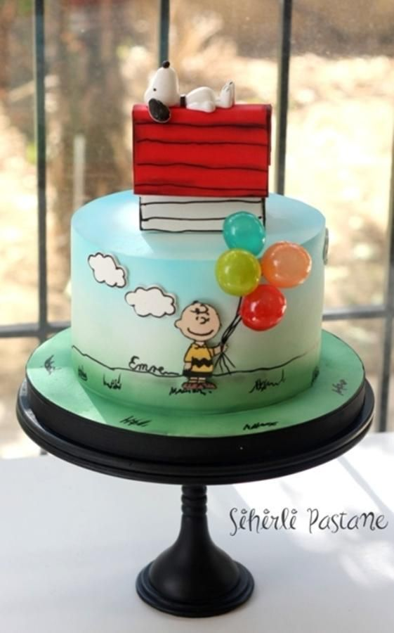 Snoopy Cake by Sihirli Pastane Pinin Happy Pinterest Cake