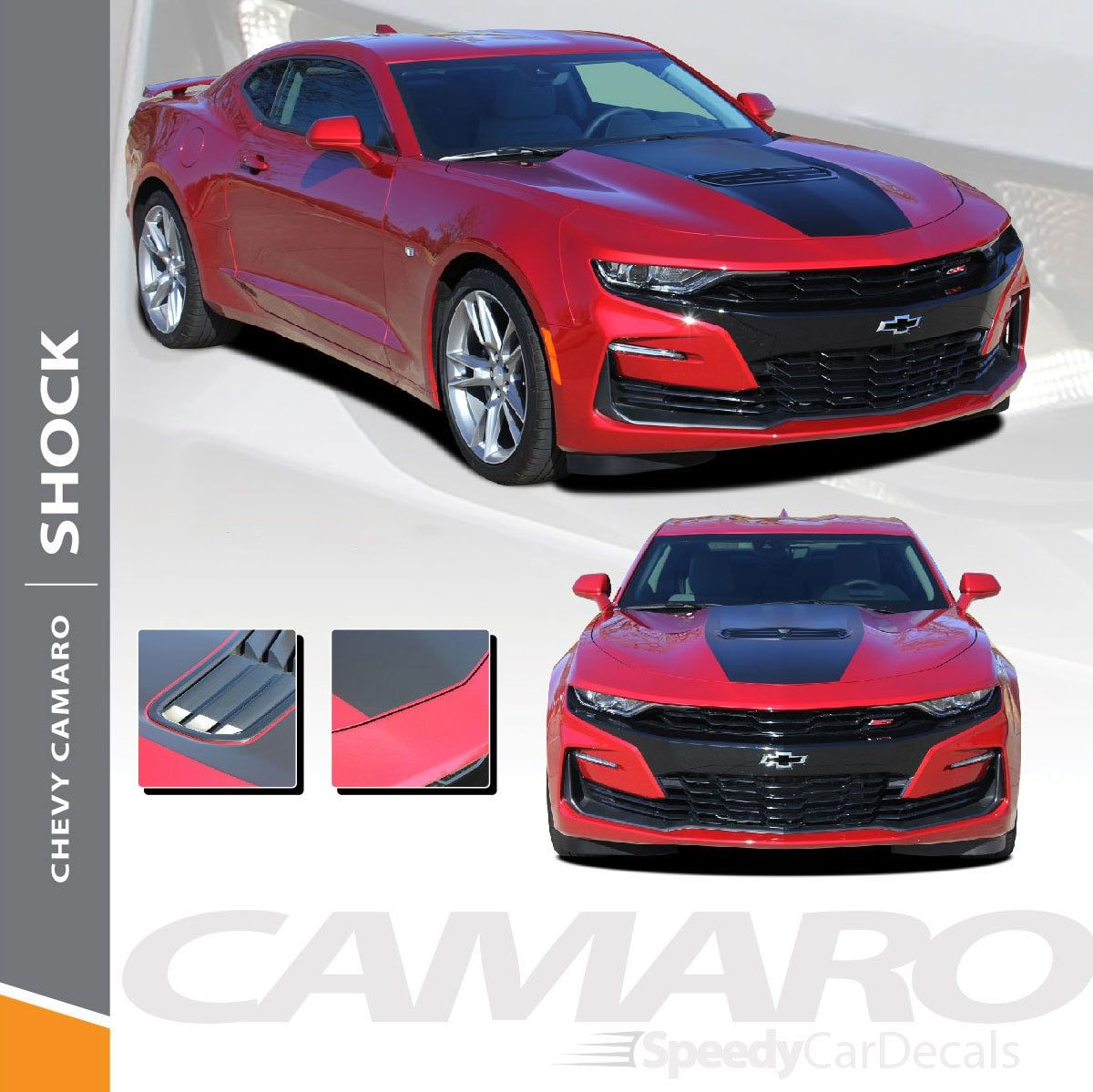 2019 Camaro Hood Vinyl Decals Shock Hood 2019 2020 3m Premium Vinyl Racing Stripes Chevy Camaro Camaro