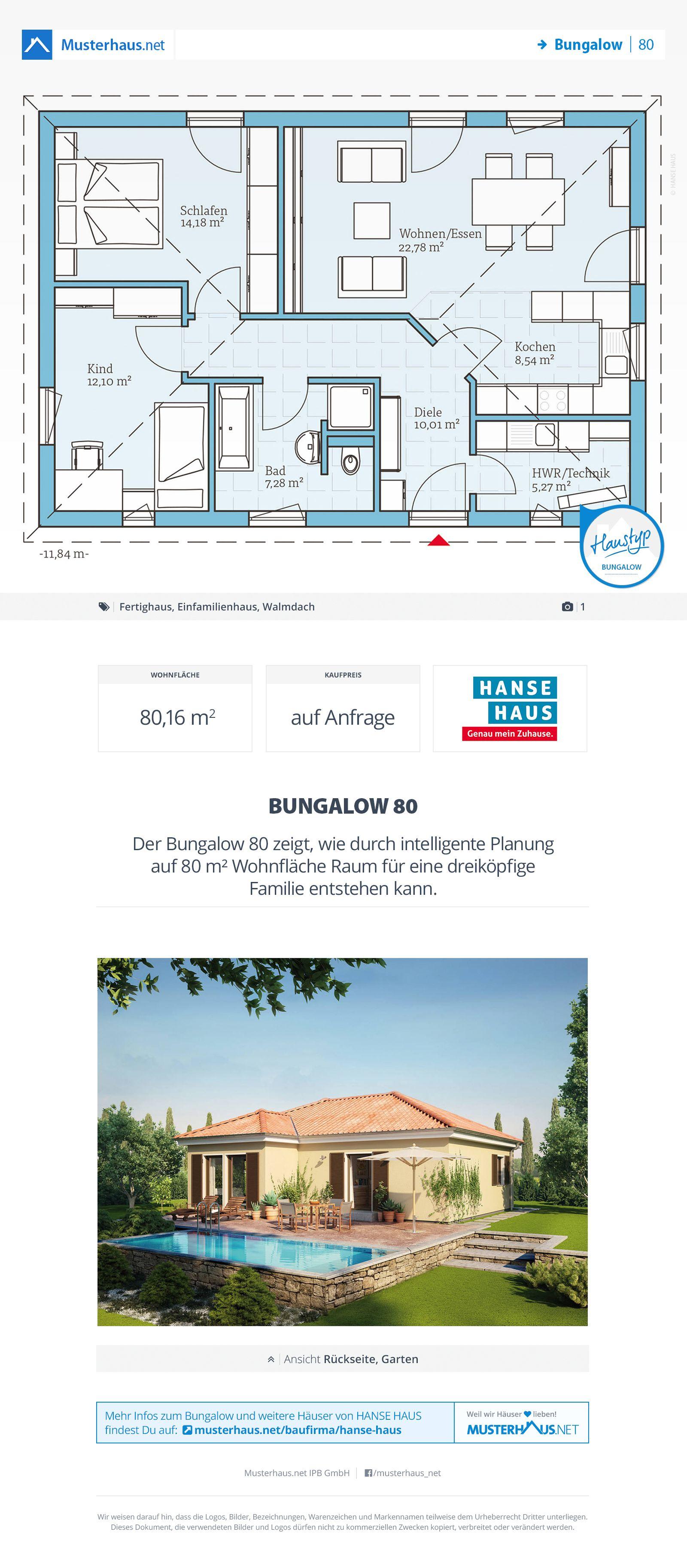 Bungalow Offene Küche | Bungalow 80 In 2018 Grundrisse Grundriss Bungalow Haus Bungalow