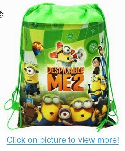 Despicable Me 2 Minions Drawstring Backpack #Despicable #Minions #Drawstring #Backpack
