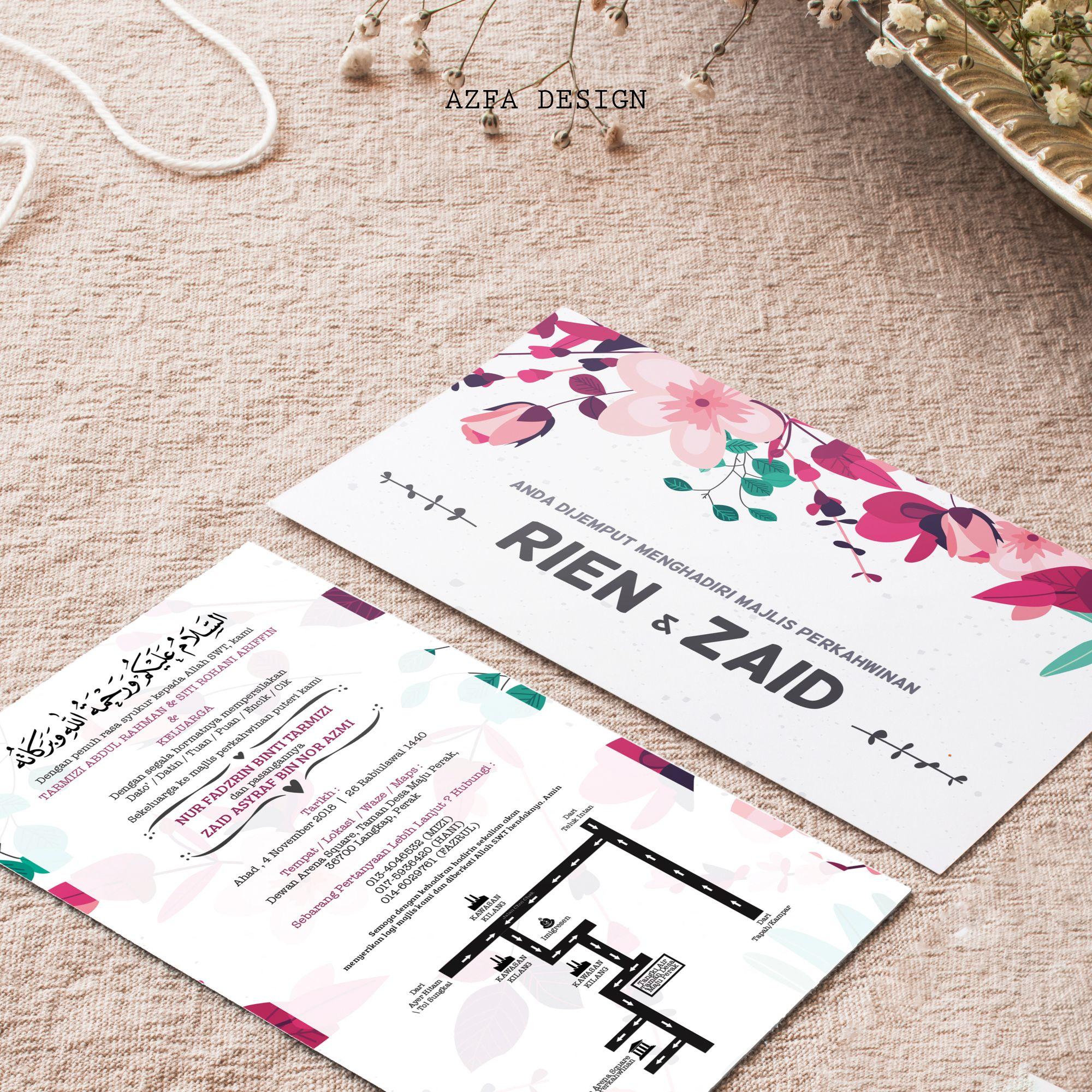 Azfadesign Kadkahwin Edarkan Kad Kahwin Anda Untuk Memeriahkan Majlis Zaman It Ni Semua Nak Pakai Phone Kadang N Invitation Cards Cards Invitations
