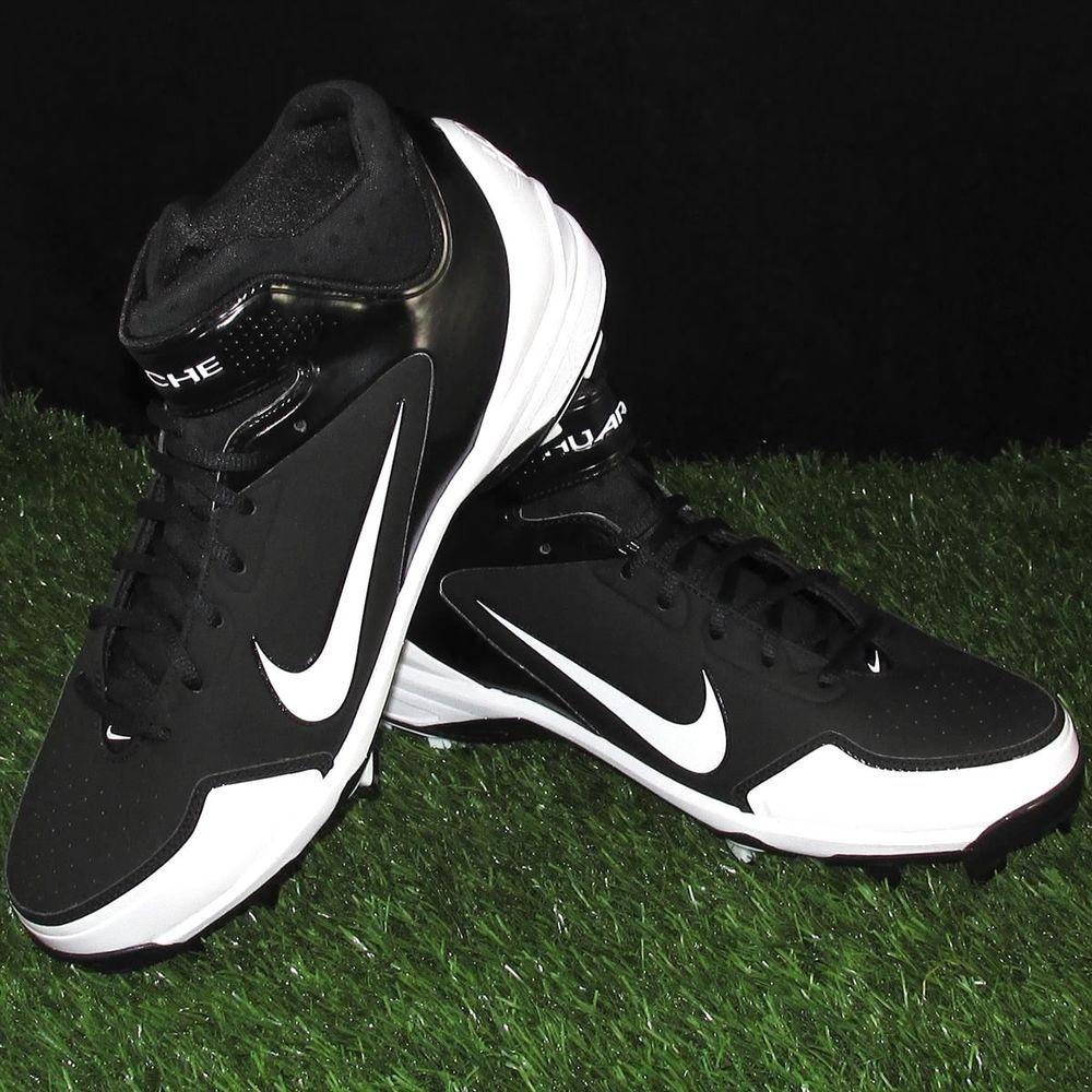 purchase cheap 36b3b e6e94 Nike Air Huarache 2K Fresh MCS Baseball Cleats Mens Size 11.5 Black White   Nike  Cleats