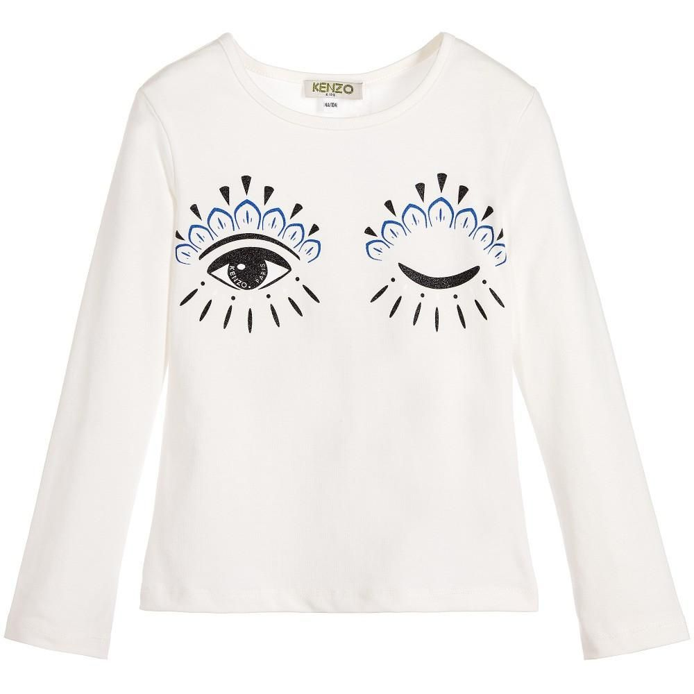 5c6c2d42 Girls White 'Eyes' T-shirt   eyes   Shirts, White eyes, T shirt