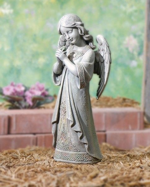 H, Multi Color) This Is An Adorable Statue Of A Young Praying Angel Garden  Statue. This Garden Statue Is Made Or A Resin/stone Mix And Has Hand  Painted ...