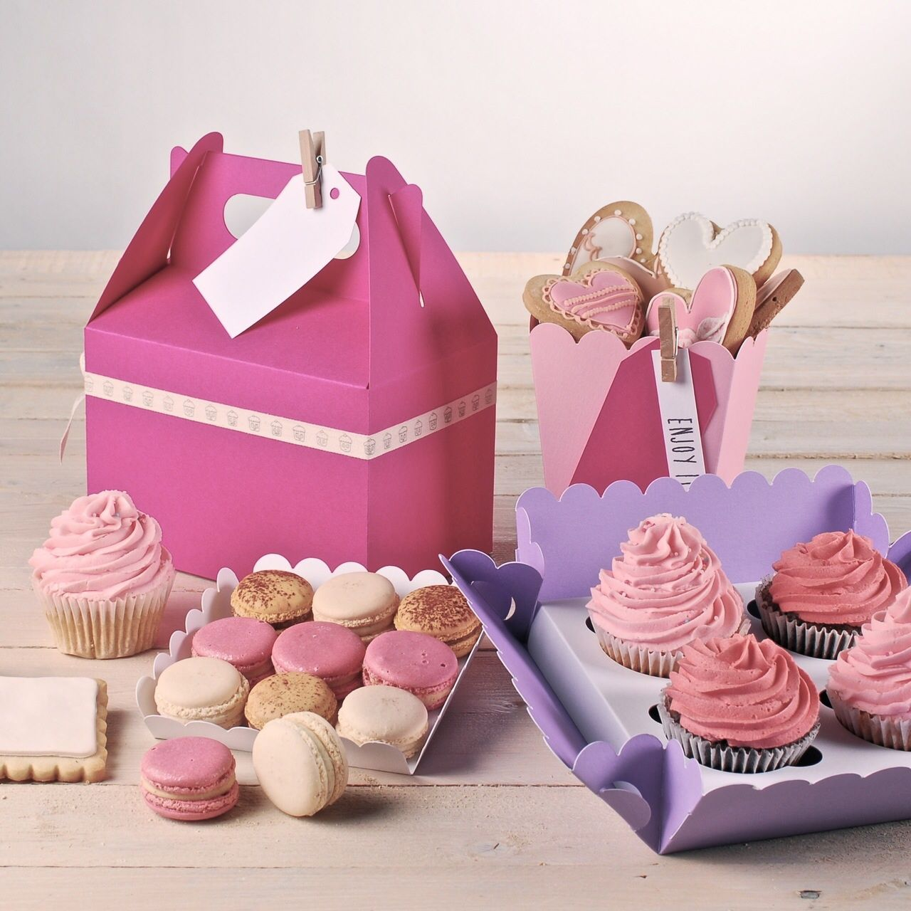Bakery boxes. Visit us: http://selfpackaging.com/56-bakery-boxes ...