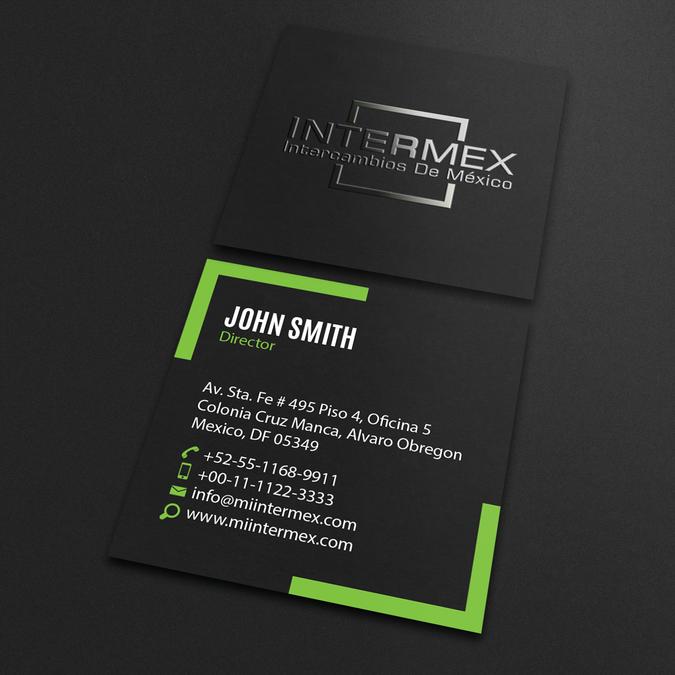 Badass Business Card Design For New Fintech Company By An Designer Business Card Design Company Business Cards Business Card Design Simple