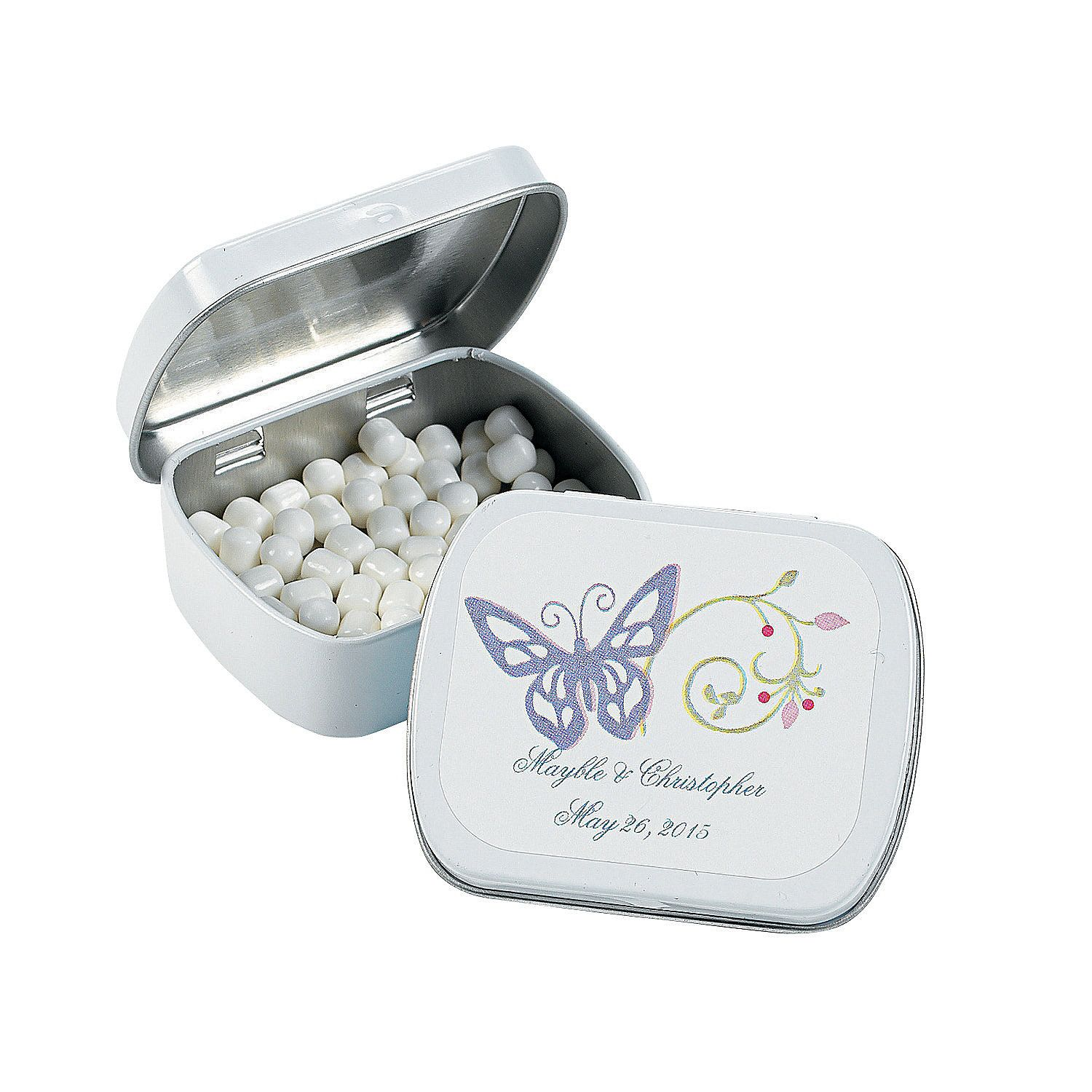Spring+Wedding+Tins+with+Mints+-+OrientalTrading.com | candy ...