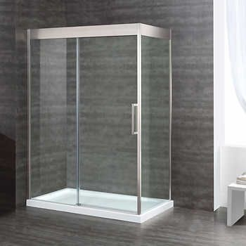 Aruba 60 In X 32 Shower Kit 10 Mm Tempered Gl Panels