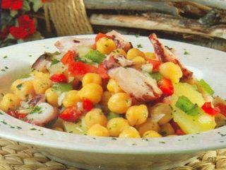 Salada Fria de Grão e Polvo