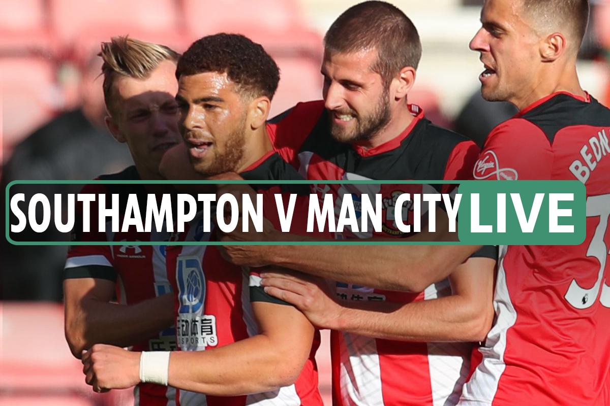 Southampton vs Man City LIVE SCORE Adams 40yard strike