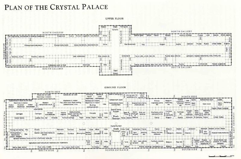 Crystal Palace - Joseph Paxton - 1851 - plans