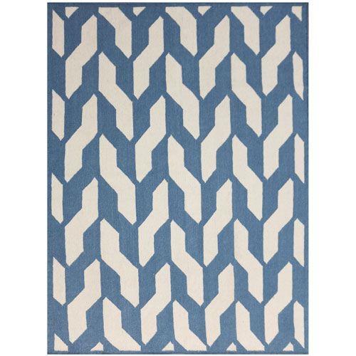 Zara Blue Rectangular: 8 Ft x 10 Ft Rug - (In Rectangle)