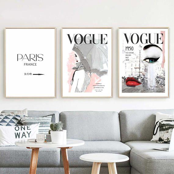 Vogue Posters Fashion Wall Art Set Of 48 Prints Home Decor Vogue Beauteous Vogue Interior Design Set