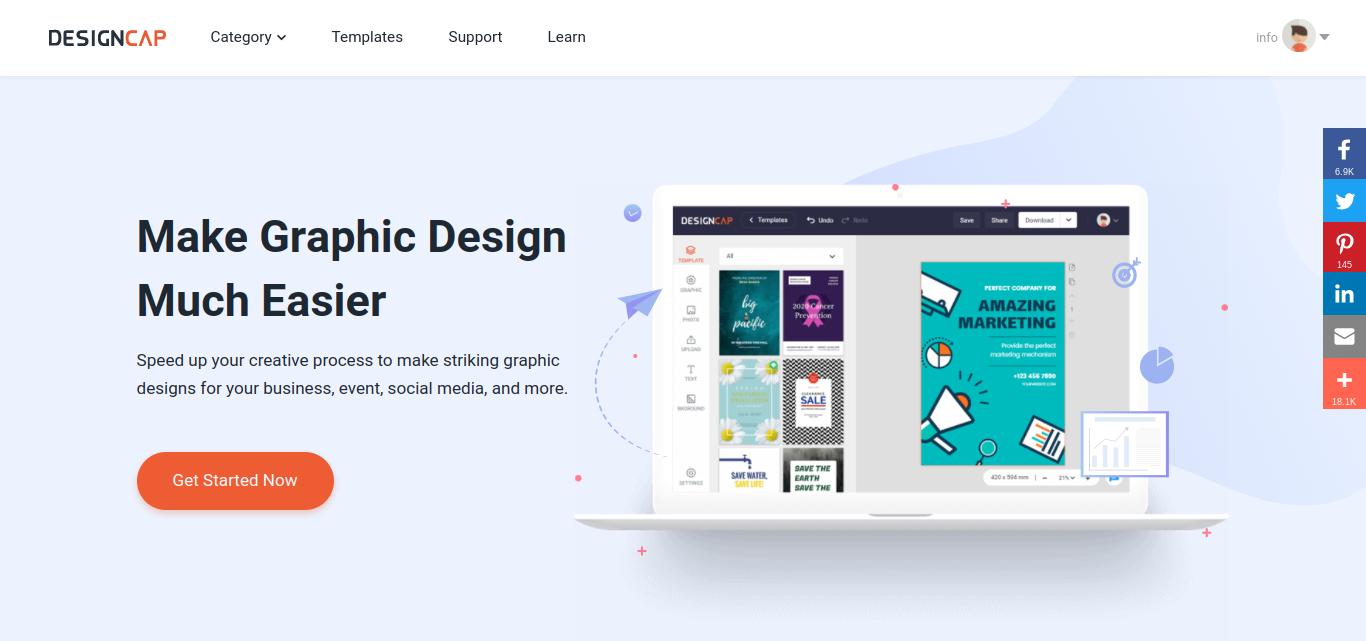 DESIGNCAP AN AWESOME GRAPHIC DESIGN SOFTWARE TOOL