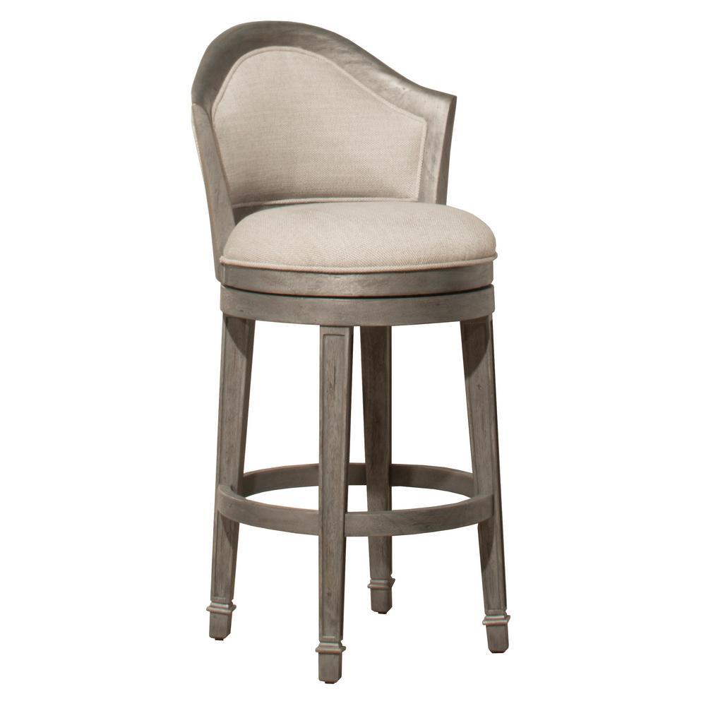 Hillsdale Furniture Monae Distressed Dark Gray 26 In Swivel Counter