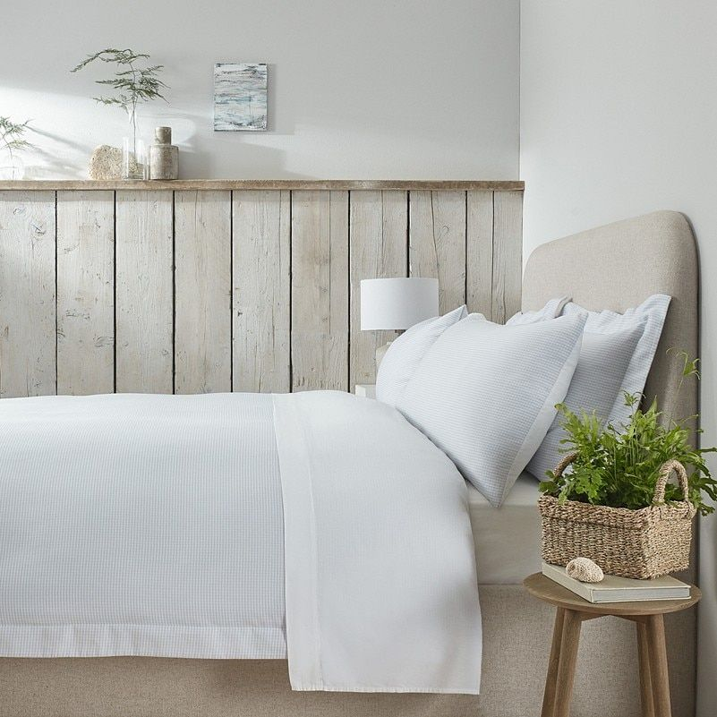 Portobello Gingham Bed Linen Collection The White Company Bedroom Redesign Bedroom Panel Striped Duvet Covers
