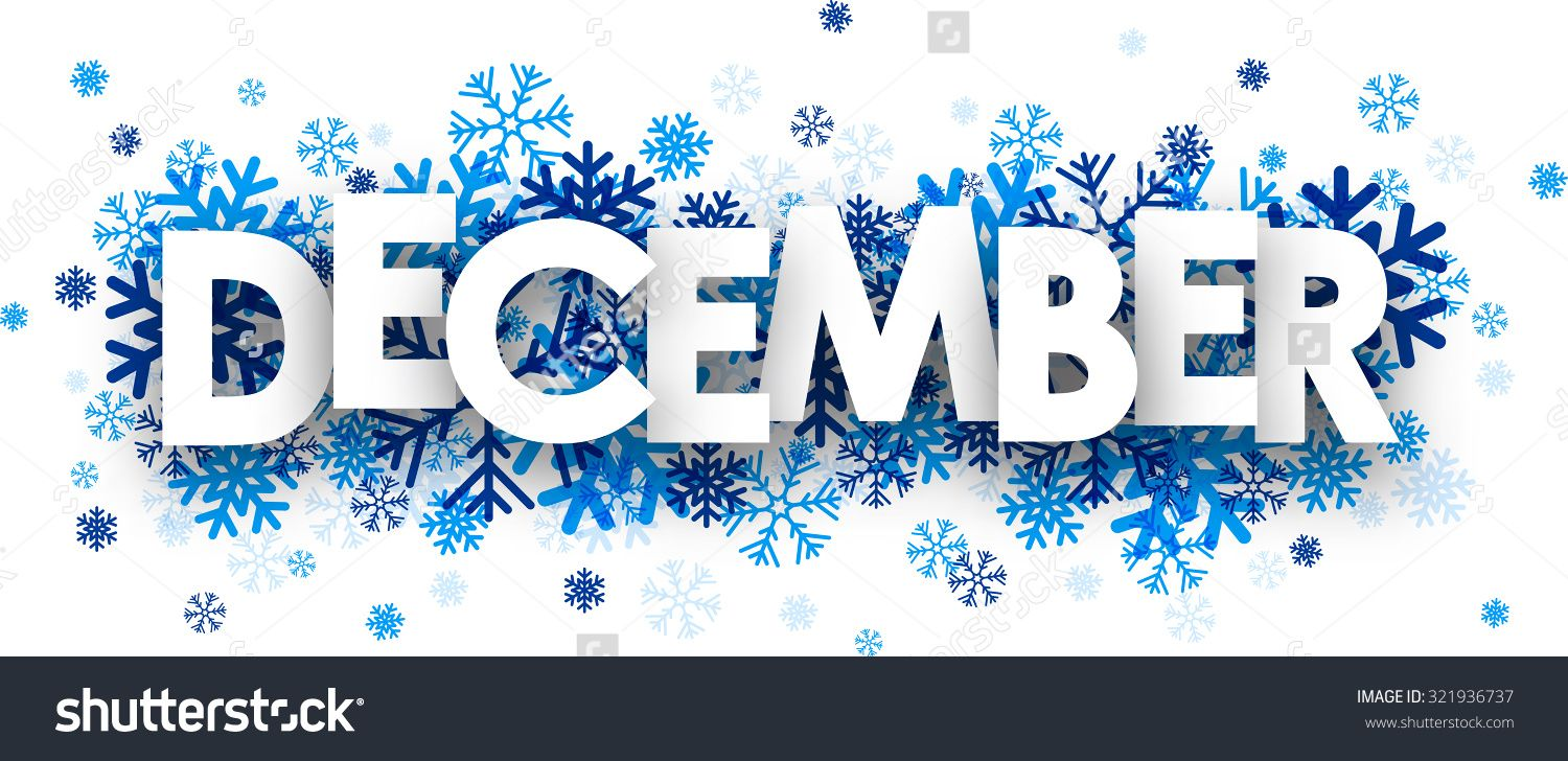 December Sign Snowflakes Vector Illustration Stock Vector ...