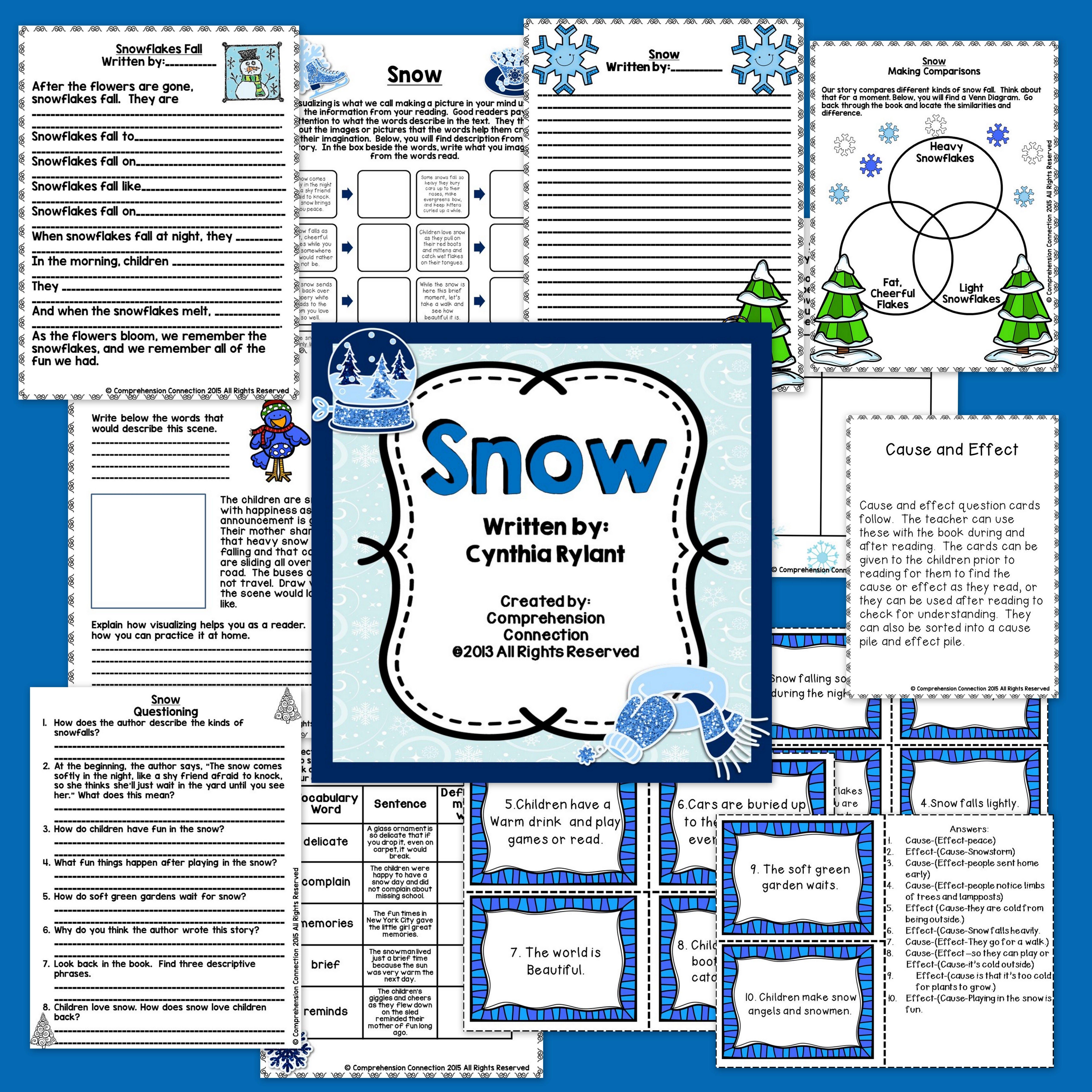 Snow By Cynthia Rylant Book Companion