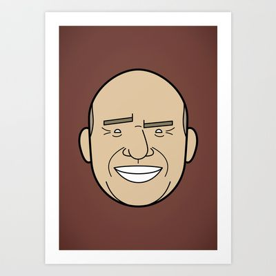 Faces of Breaking Bad: Hank Schrader Art Print by Rob Barrett — Nice Hot Cuppa