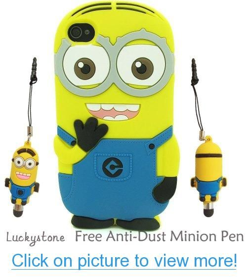 3D Despicable Me 2 Minion Soft Silicone Case Defender Cover for Apple iPhone 4 4G 4S