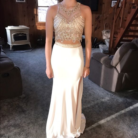39++ White and gold 2 piece prom dress ideas