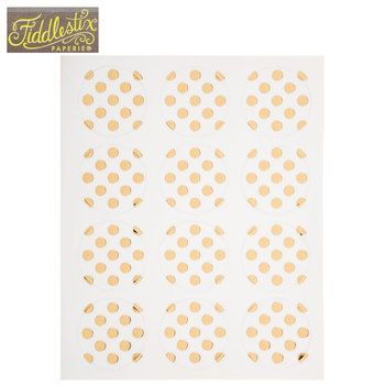 Gold Polka Dot Envelope Seals