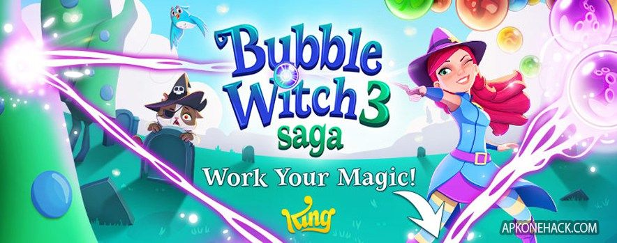 Bubble Witch 3 Saga Is An Puzzle Game For Android Download Latest Version Of Bubble Witch 3 Saga Mod Apk Unlimited Bubbles Play Hacks Puzzle Games For Android