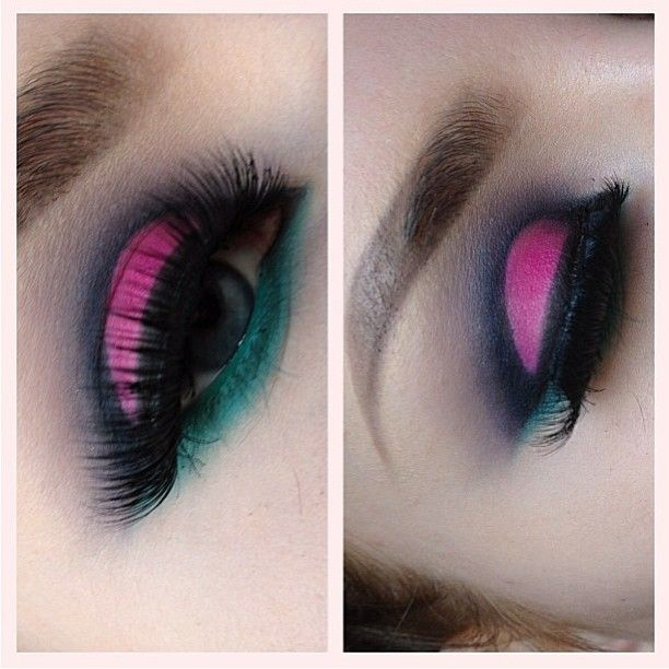 Goooorgeous eotd by @stephelf using a mix of Sugarpill and Inglot eyeshadows. Love this color combo and shape!