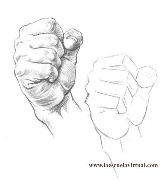 Tutorial dibujando manos posiciones, anatomia, forma, tutorial ...