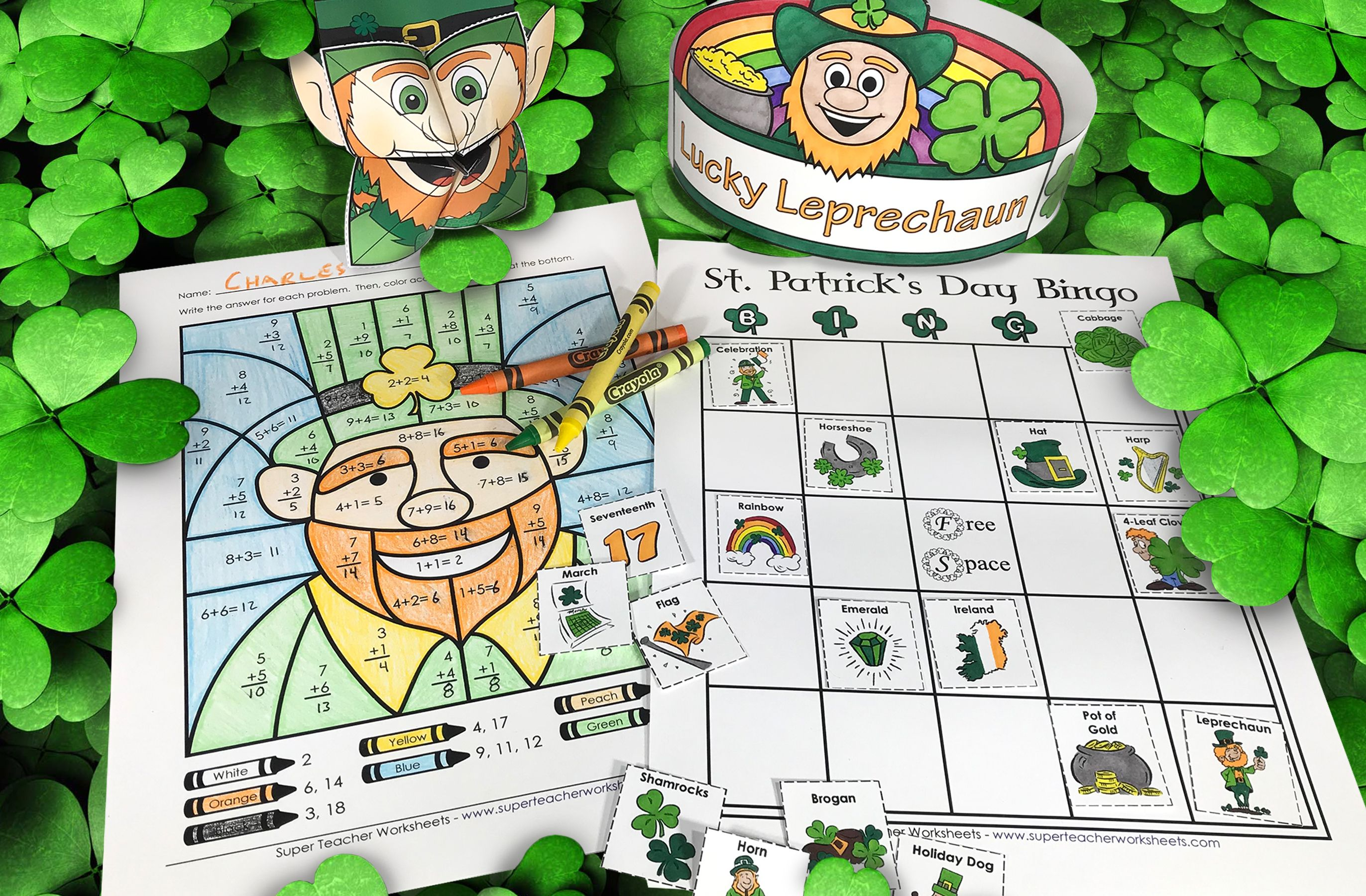 St Patrick S Day Worksheets And Activities Super Teacher Worksheets Worksheets After School Program [ 1800 x 2744 Pixel ]