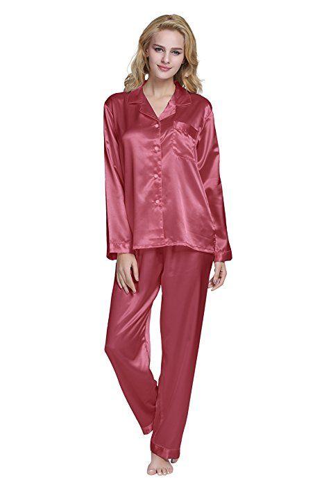 0f53b5fb677b TONY   CANDICE (TM) Women s Classic Satin Pajama Set (Medium