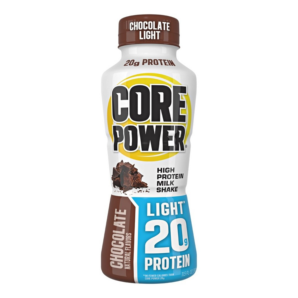 Core Power Chocolate Light Protein Drink 11 5 Fl Oz Bottle Protein Drinks Protein Protein To Build Muscle