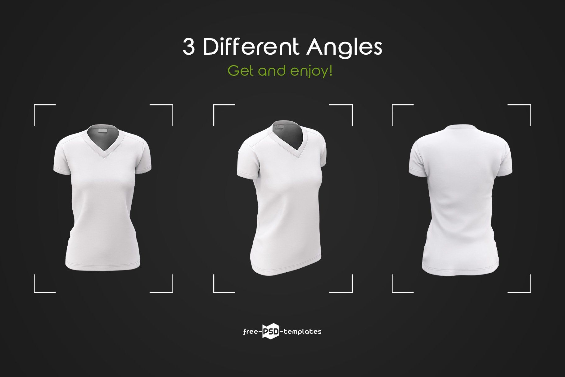 Free for personal and commercial use Womens V Neck T Shirts Mockup Set Shirt Mockup Tshirt Mockup V Neck T Shirt