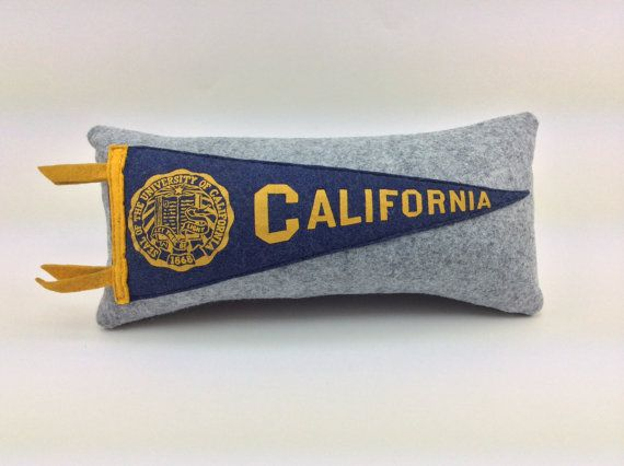 University of California Berkeley Vintage Pennant Pillow by MGDesigns